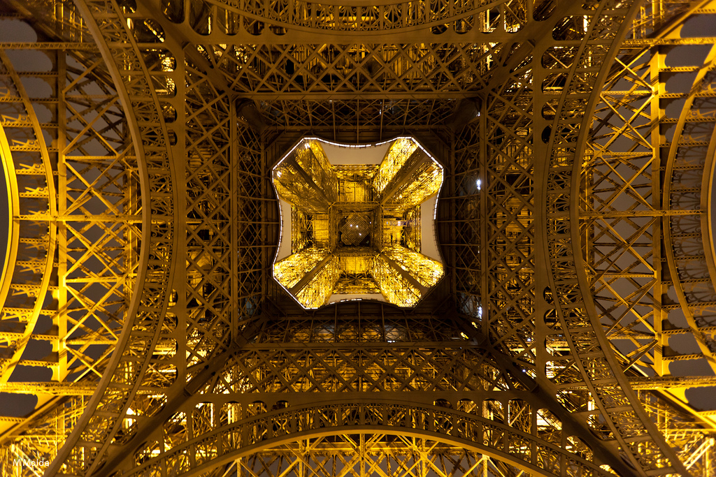 Below the Eiffel Tower