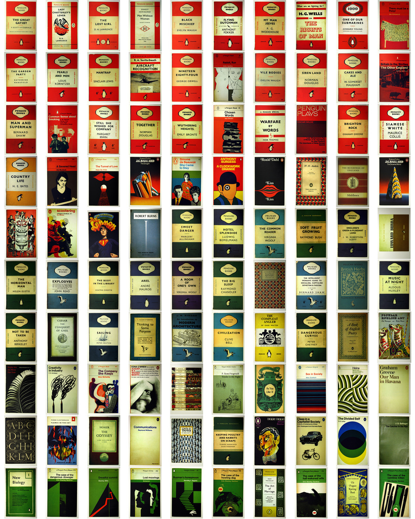 thingsorganizedneatly : Penguin Book Covers.