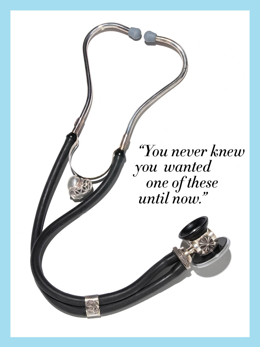 Thanks Vogue. If it wasn't for your ridiculous gift list this Christmas, I wouldn't have known all I wanted was a $3,795 stethoscope. C'mon Santa, dish it out.