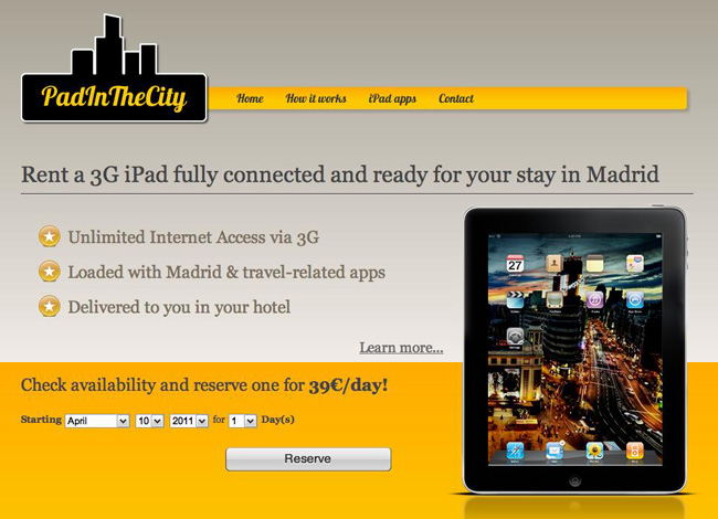 Madrid Now Renting iPads for Your Stay with   PadInTheCity