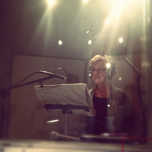 Recording radio with @annapoet 's Mumsie. She's so adorable. #blockbrand (Taken with Instagram)