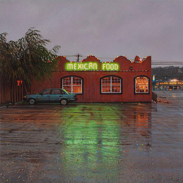 Hyperreal Paintings of Desolate, Small-Town America