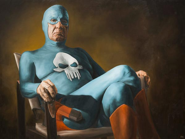 Awkward super heroes. (via  Andreas Englund superhero art  )