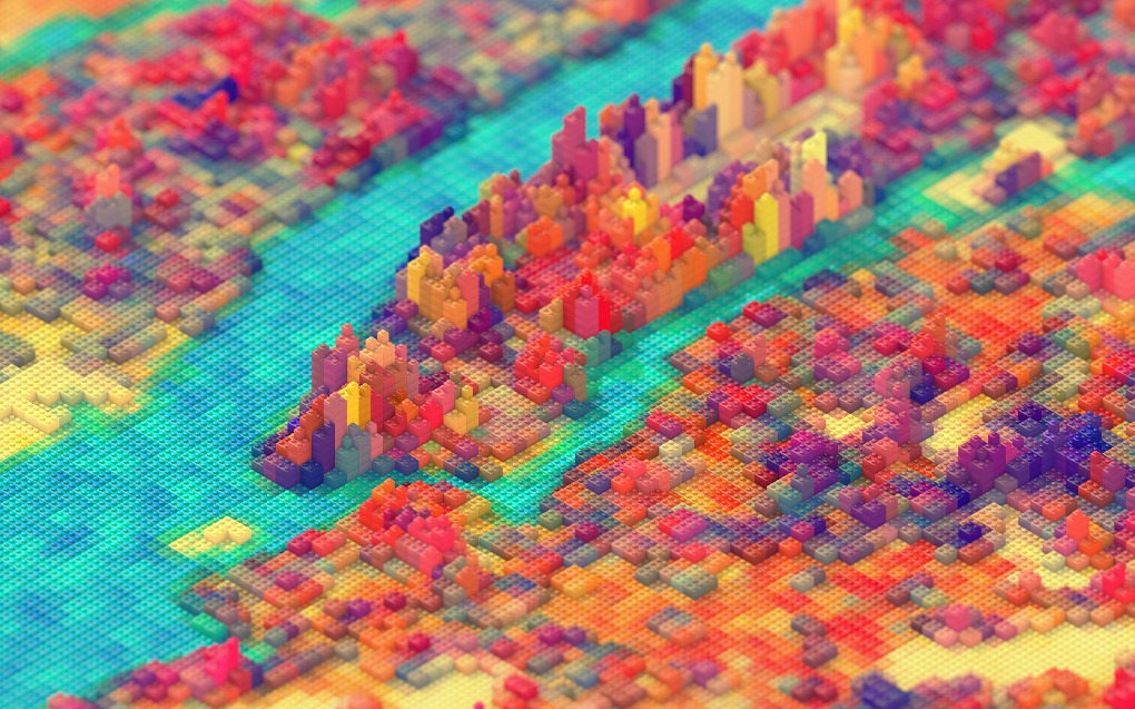New York as Legoland. I can't stop looking at it! (via  Her Masters Voice )