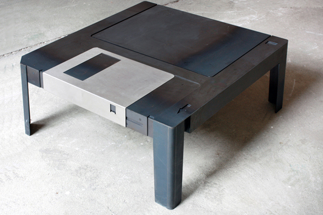 from och-annie :   WANT.  Floppy Disk Coffee Table  is beautiful and clever.   Floppy Table    is a wonderfully designed coffee table created by the Berlin art, design and architecture duo   Axel van Exel  and   Marian Neulant   of   Neulant van Exel