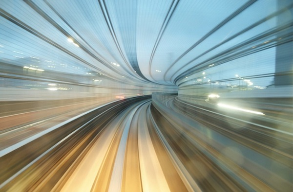 Beautiful photos of long exposure shots taken on the new metro line in Tokyo (via  Speeding Through Light, Space And Time )