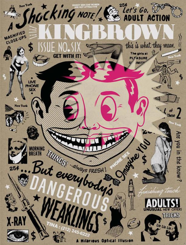 KINGBROWN Magazine represents the thriving movement of street art; graffiti, stencils, postering, painting and murals, as well as art in the public arena; photography, illustration, multimedia, graphic design, music, film, poetry and creative writing. Check out the blog here: KingBrownMag.com for all kinds of daily goodness.