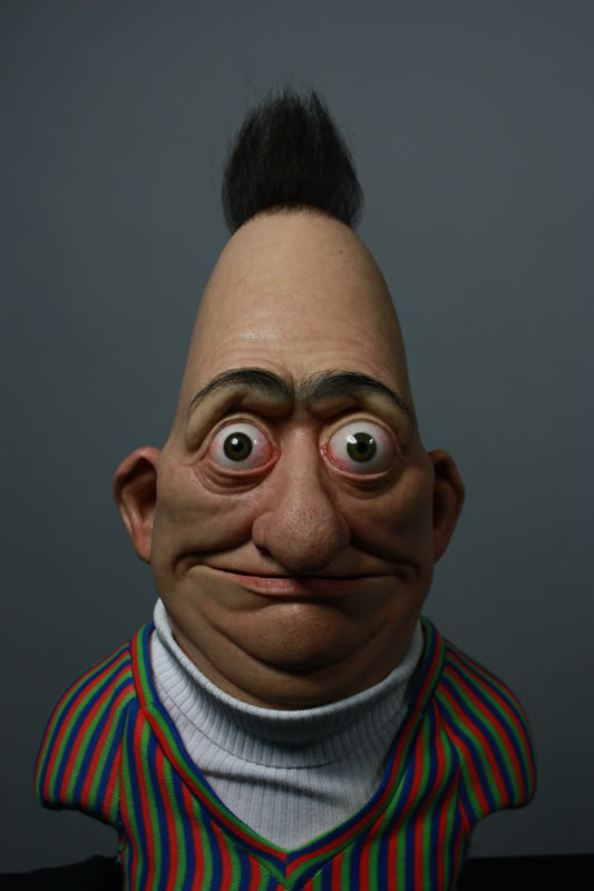 laughingsquid: Creepy Real Life Version of Bert of Sesame Street