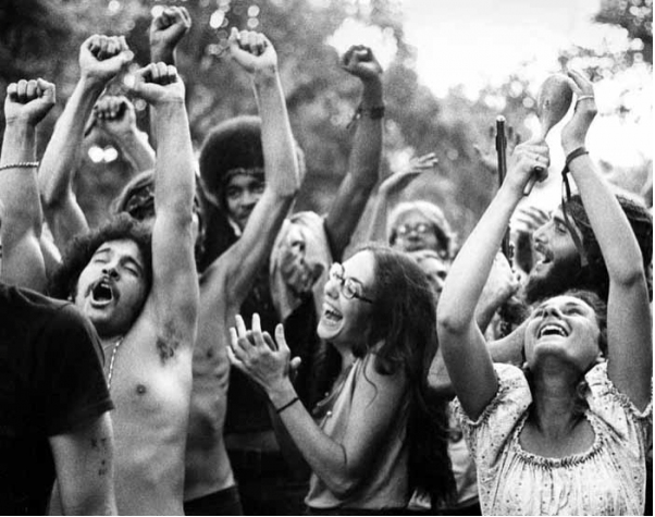 "Holy Man Jam festival, Boulder, Colorado, August 1970 — Image by © Robert Altman. ""I love this photograph. You've got the perfection of a very pretty young lady, hands raised, holding a maraca. Right between her is this jubilant face… Another second or two, and her expression may have changed, an arm might have moved in front of an eye, and it's a whole different photograph. Sometimes photography is alchemy, pure magic. Sometimes it just all comes together."" –Robert Altman After attending Hunter College in NYC, Robert Altman apprenticed under none other than Ansel Adams. He then went on to serve as Chief Staff Photographer for Rolling Stone magazine from 1969-1971. Many of Altman's images became iconic for the brilliant and passion way he captured those that shaped music history in particular, and the '60s & '70s culture at large. The Sixties: Photographs by Robert Altman is a must own. Oh, and he's not to be confused with Robert Altman the film director – both epic in their own right. via The Selvedge Yard"