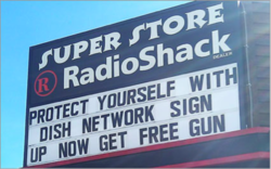 Apparently, they do things a little different in Montana. Buy network dish subscription, receive gift card for a shotgun or pistol. Or, if that doesn't tickle your fancy, you can always opt for $50 worth of pizza. More info here:  S & S Electronics