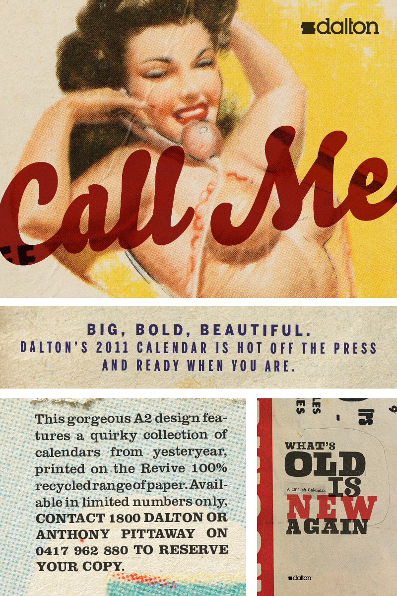 blockbranding : Give your rep a call to get your  Dalton 's  calendar  (if you are in Australia).