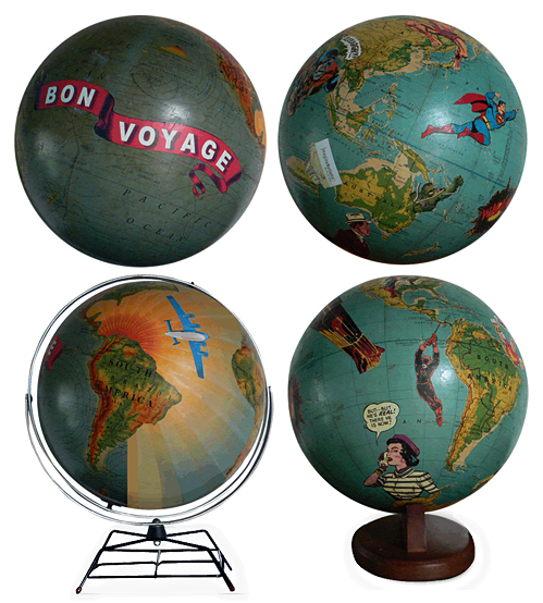 These are perfect.  Art on Globes