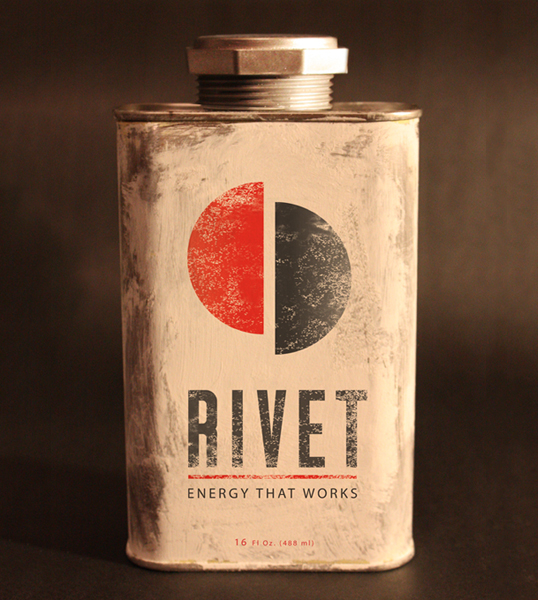 Rivet energy drink packaging-absolutely amazing. I would buy this just for the packaging. via  whiskeysoaked :