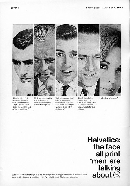 laughingsquid :      Helvetica: the face all print men are talking about