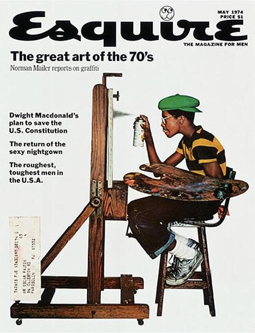 youmightfindyourself :      headofcrayons :Esquire, Graffiti, Jean-Paul Goude, May 1974
