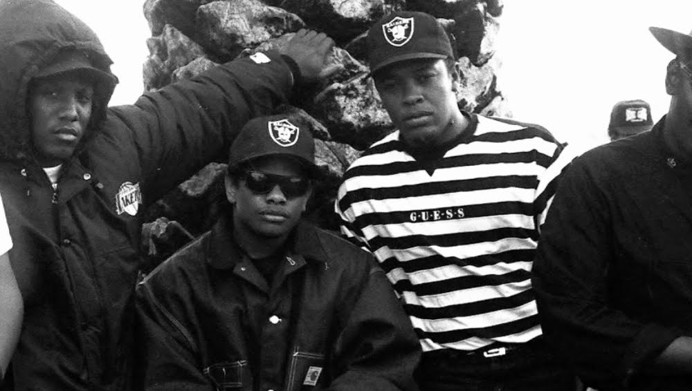 youmightfindyourself :      Lyrically,  Straight Outta Compton  was defined by its glorification of gun-toting violence and its eye-for-an-eye rallying cry against police brutality. Visually, though, the album was branded by the rap group's signature style: black men clad in nearly all-black attire that was nondescript save for headwear that often bore the emblem of the hometown NFL franchise with a conveniently complementary color scheme. So it was that the Los Angeles Raiders became married to a music revolution, until their logo came to stand for a cultural identity as much as an athletic team. ( read the entire article )