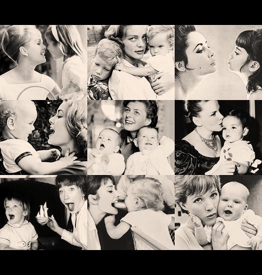 thatkindofwoman :      latinamericana : itsdelovely : nanelarya : likeadoll :              Happy Mother's Day! Here are classic Hollywood mamas.