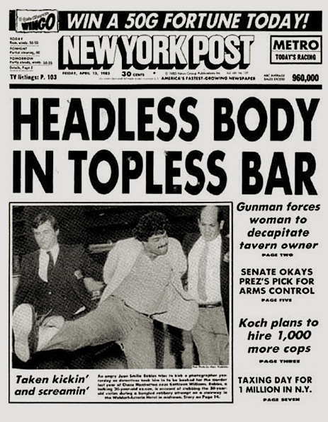 nevver :     The crime behind the best tabloid headline ever,  Ephemeral New York