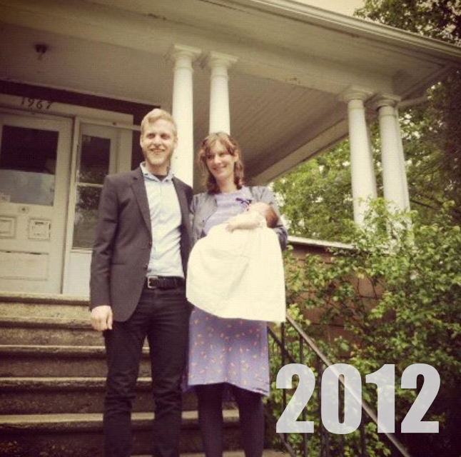 May 2013: Just after Nina's baptism