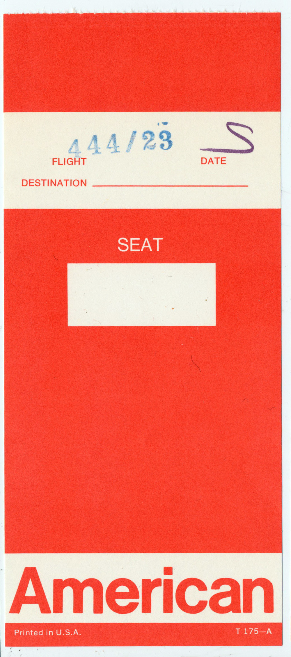 Who doesn't love old boarding passes? They used to look so cool.