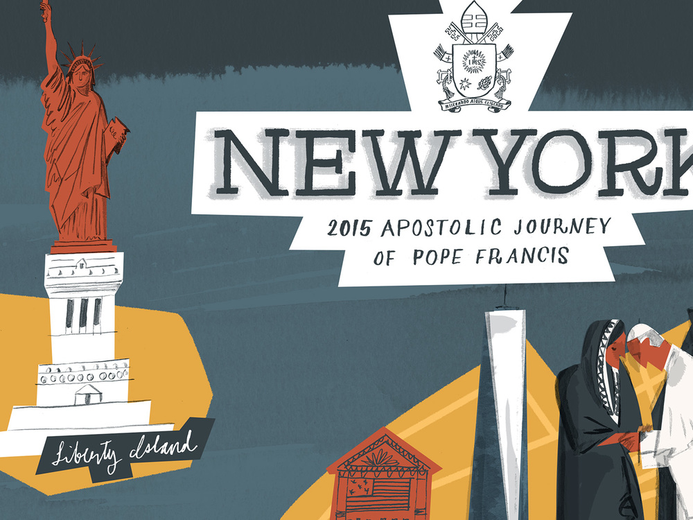 Map for an upcoming article on the Pope's visit to NYC (detail)
