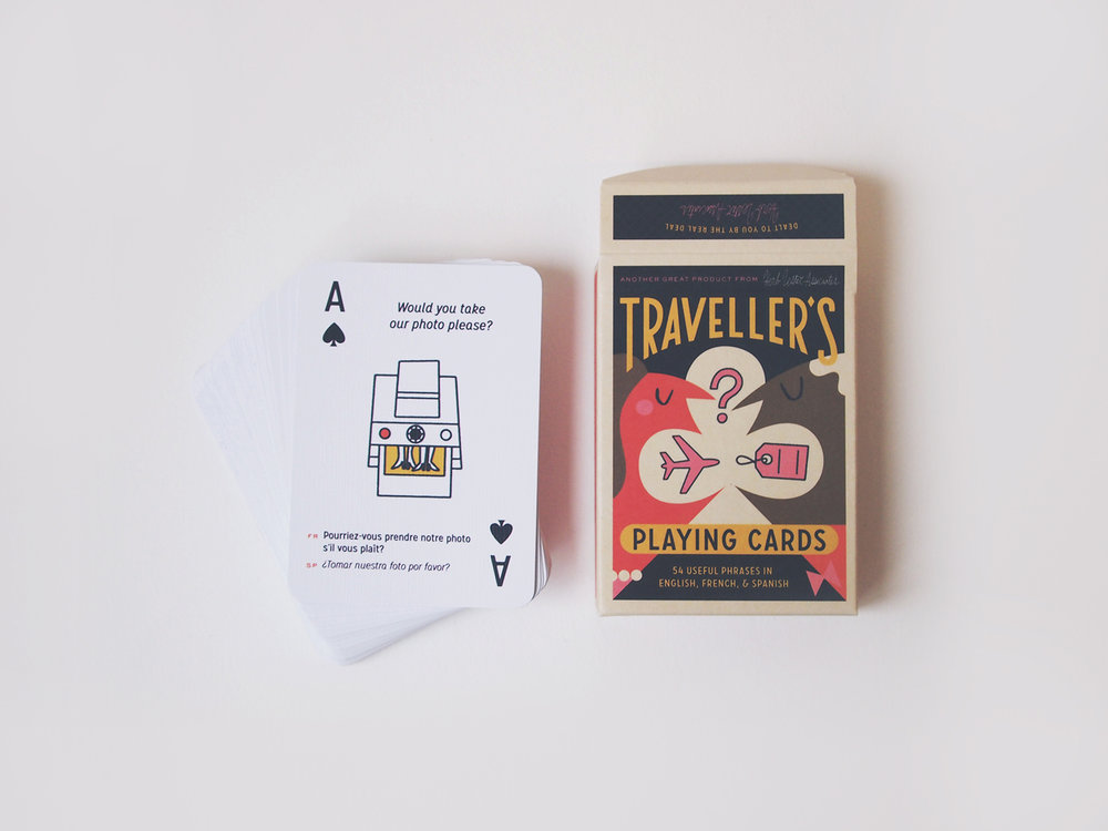 Traveller's Playing Cards for Herb Lester