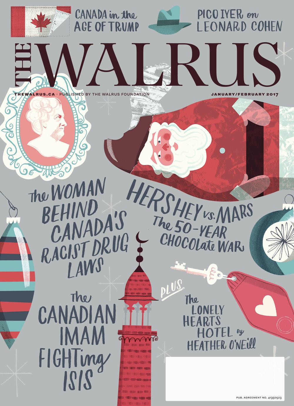 Cover for The Walrus and Reader's Digest, January/February 2017