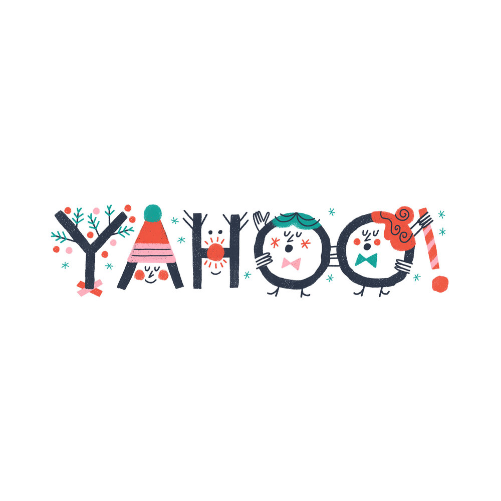 Yahoo! Christmas logo treatment