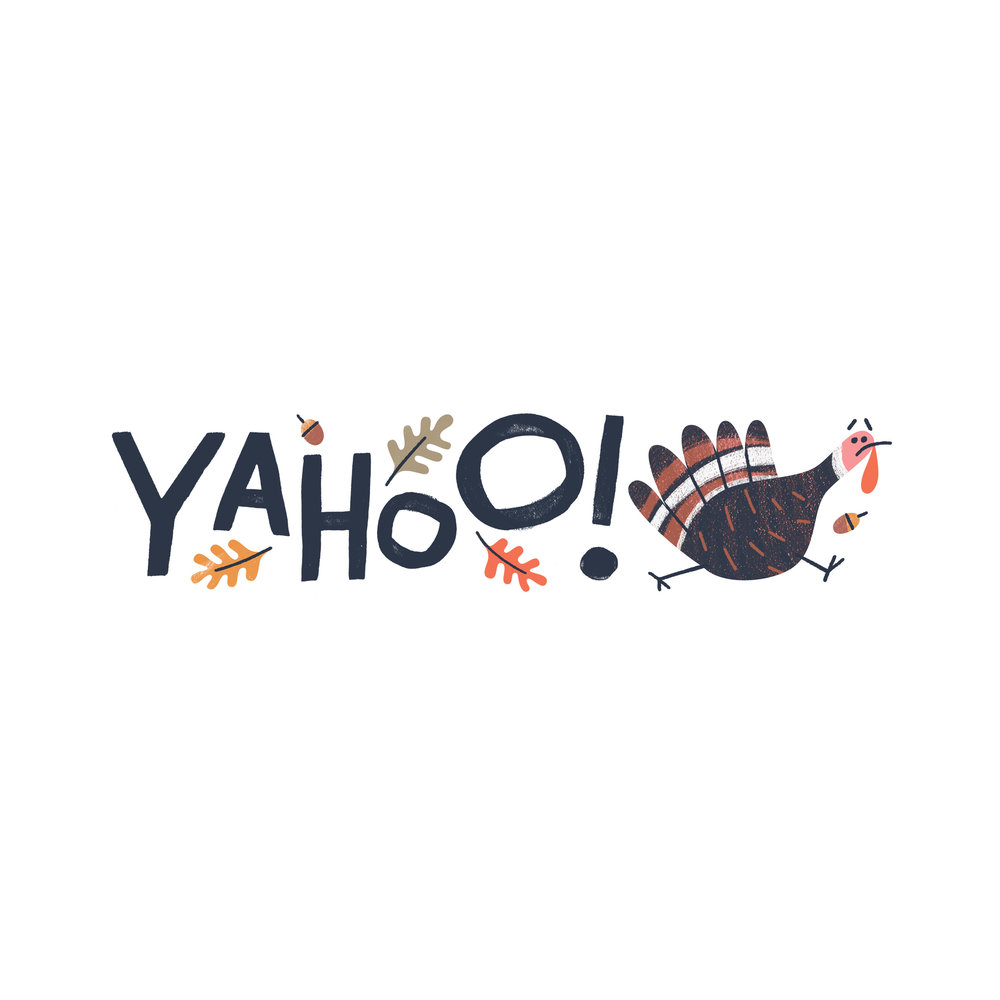 Yahoo! US Thanksgiving logo treatment