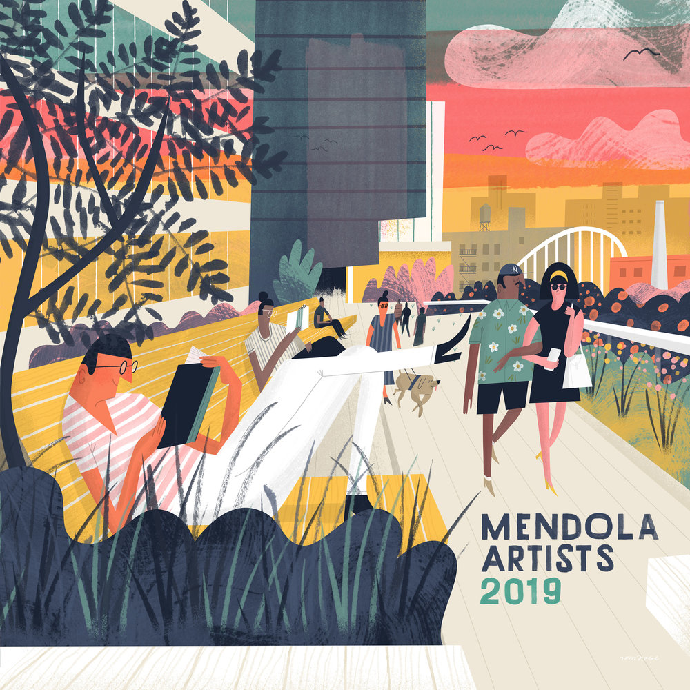 2019 Calendar cover for  Mendola Artists