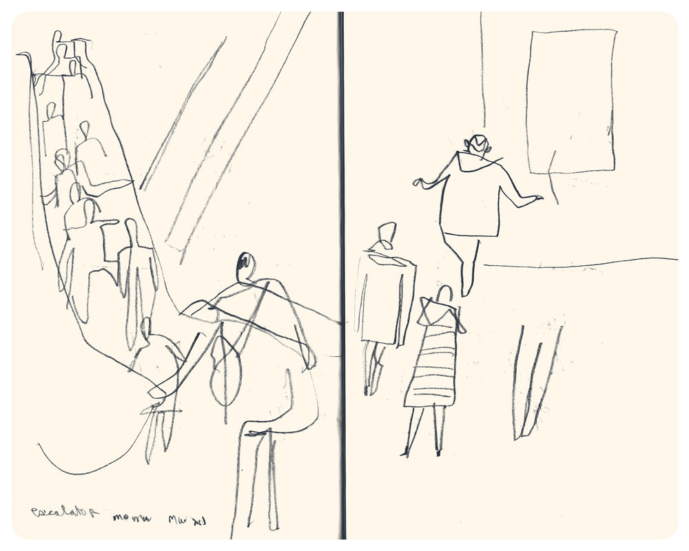 Sketches from MoMA by Tom Froese
