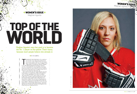 "From the Hockey News in their ""The Women's Issue"" in the Fall of 2012."