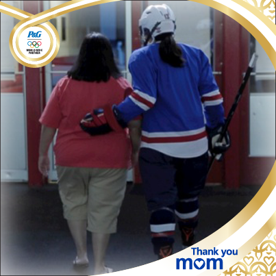Julie and her mom, Miriam as part of P&G 2014 activation of the Sochi Olympic Games for Bounty Paper Towels.