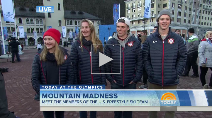 Maggie Voison / Julia Krass / Gus Kenworthy and Josh Christensen on Today Show - February 6, 2014