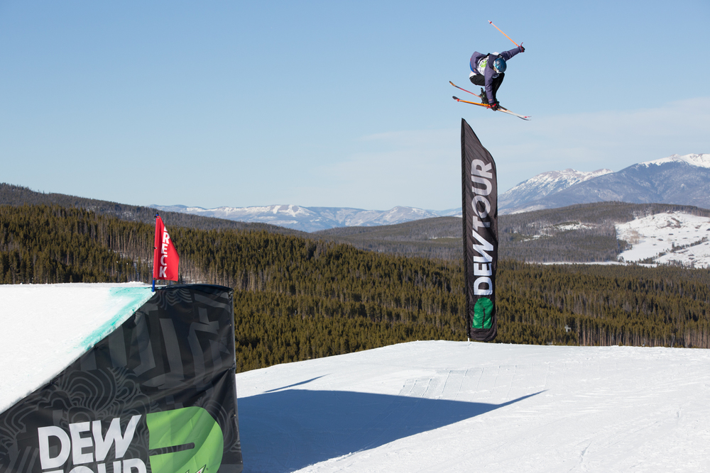 Breckenridge, CO - Julia Krass in action (photo courtesy of Dew Tour / NBC  / Ketchum)