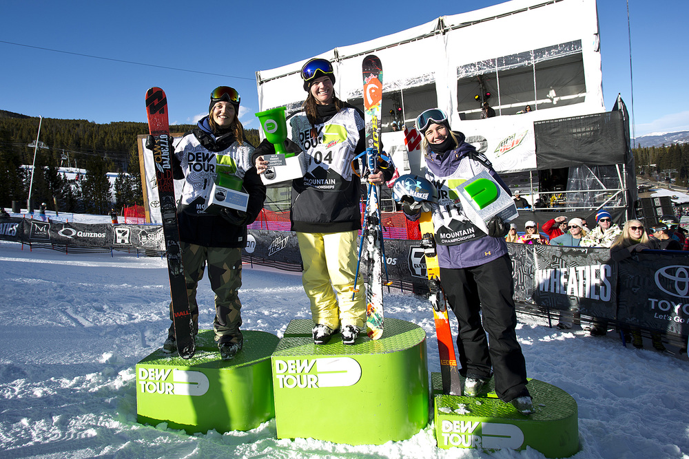 Podium shot at the 2014 Dew Tour in Breckenridge.