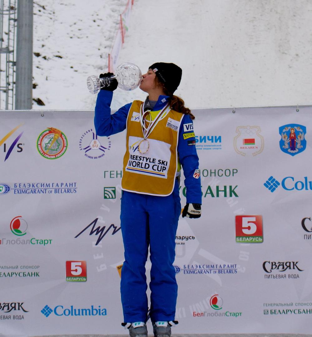 Ashley won her first FIS Overall World Cup Championship in Minsk, Belarus - February 2016