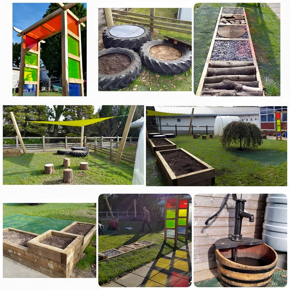 Sensory garden for children for pupils with disabilities at Bodmin College