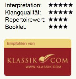 5 Sterne für Interpretation und Klang.