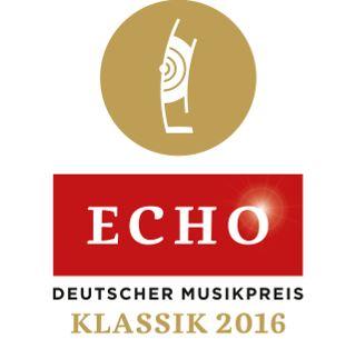 ECHO Klassik 2016 für ein Projekt des letzen Jahres