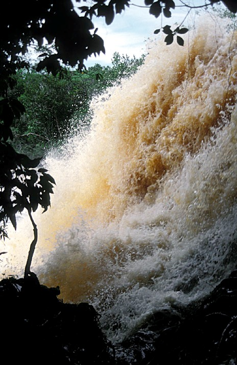 A torrent in the central Amazon