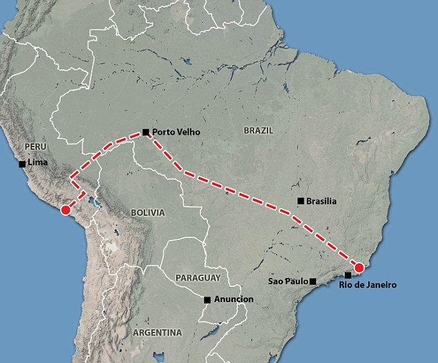 The route will cut across South America's most biologically diverse environments.