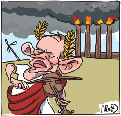 Abbott fiddles while the world burns