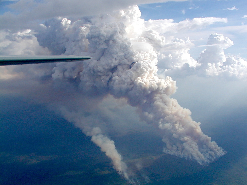 Massive smoke-plume in the Amazon