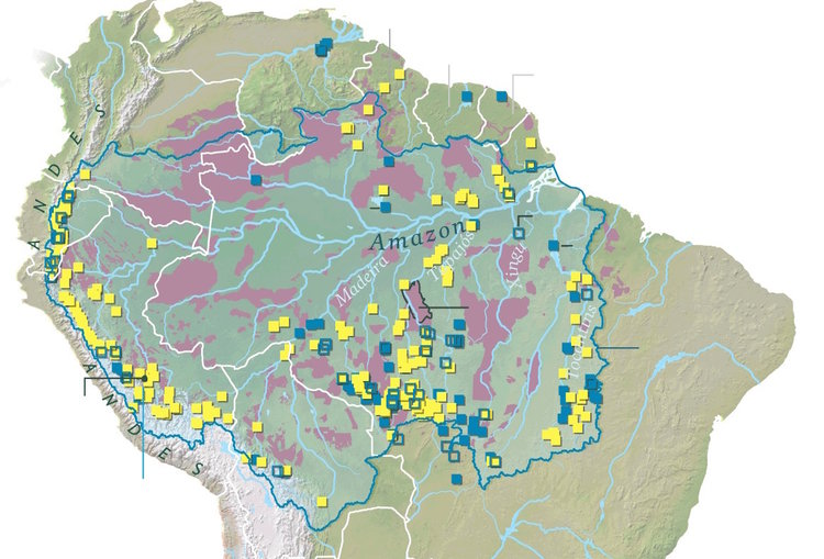 Political back room deals imperil the brazilian amazon alert major existing blue and planned yellow hydroelectric dams in the amazon basin gumiabroncs Image collections