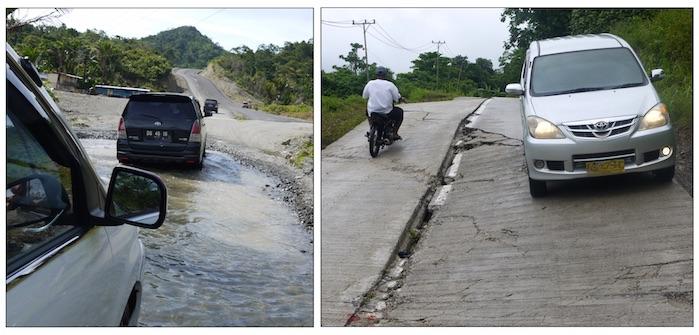 estradas destruídas pelas chuvas