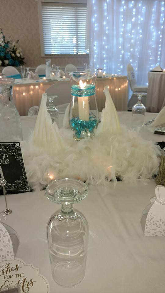 Wedding candle center piece