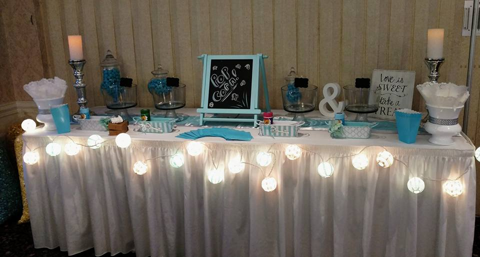 Wedding candy and snack table