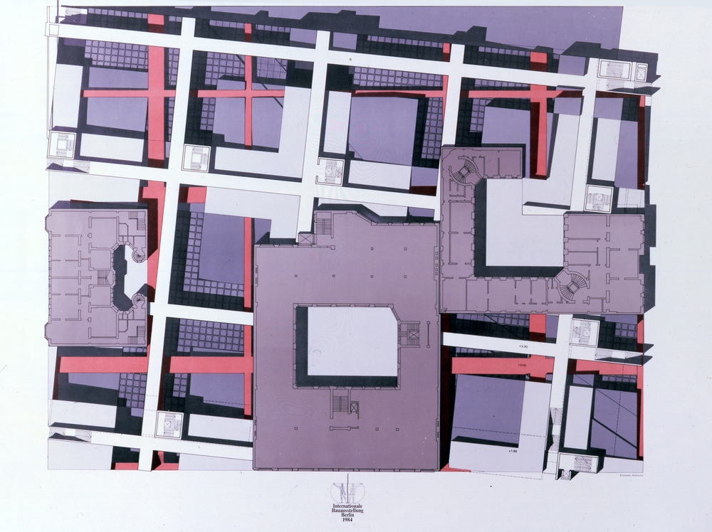 Checkpoint Charlie project (IBA) plan, Berlin (1980)