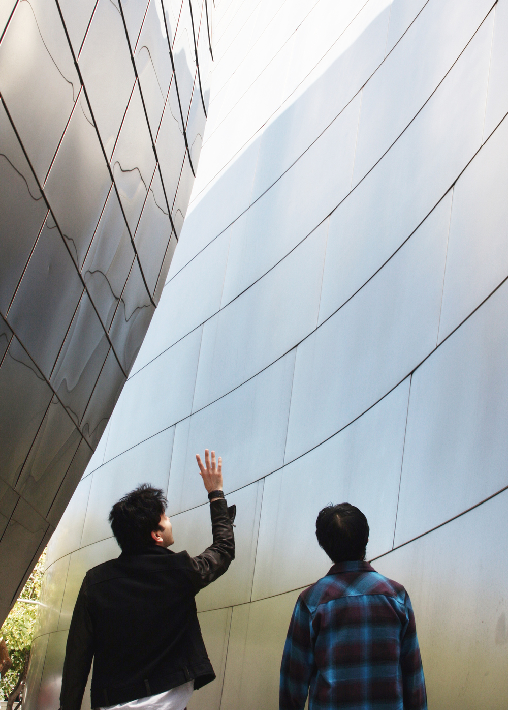 Iman Ansari with Edwin Chan at Walt Disney Music Hall